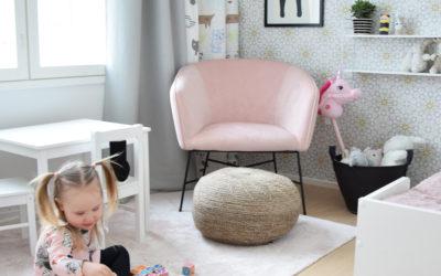 Vierashuoneen muutos lastenhuoneeksi